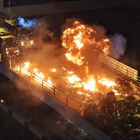 Rioters set fire outside courts, vandalize shops in Hong Kong