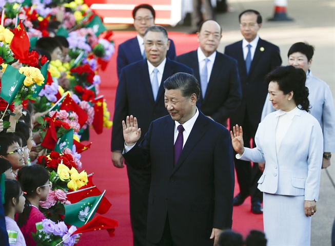 Chinese president proud of Macao's achievements, progress