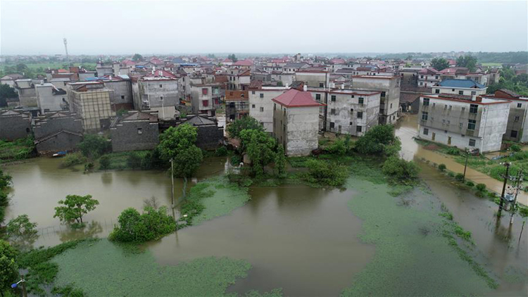 Flood rescue and relief work carried out in China's Jiangxi