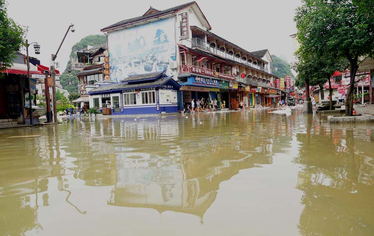 Record-high of 377 rivers in China report floods