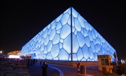 Beijing's Water Cube transformed into Ice Cube for Olympics