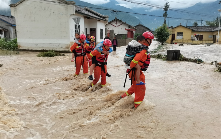 China on blue alert as rainstorms continue to wreak havoc