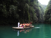 Ayi River scenic spot in SW China integrates natural beauty with folk...