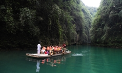 Ayi River scenic spot in SW China integrates natural beauty with folk culture to develop tourism industries