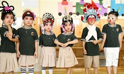 Kids dressed up to perform local opera in kindergarten in N China's Hebei