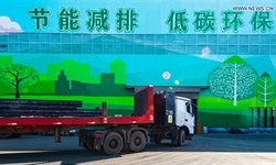 New energy heavy-duty trucks help reduce carbon emission in Hebei