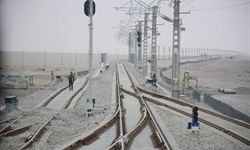 Third railway linking Xinjiang opens