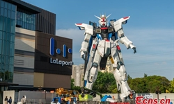 Life-size Freedom Gundam statue unveiled in Shanghai