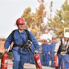 Company holds firefighting competition in Dingzhou, China's Hebei