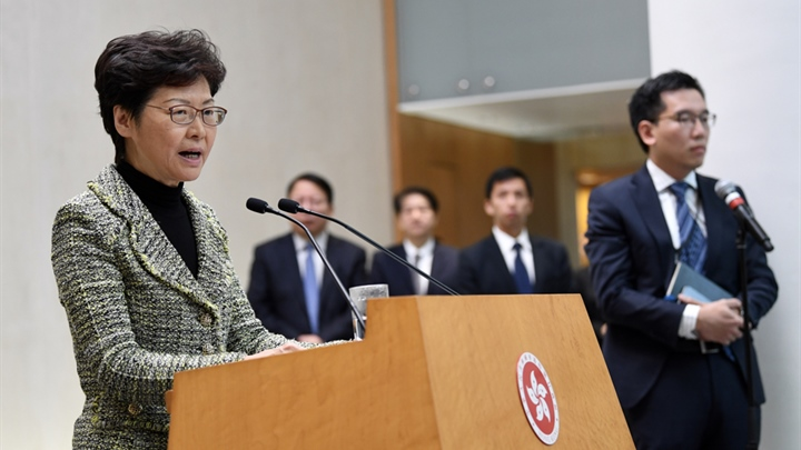 Carrie Lam condemns attack on HKSAR official in London