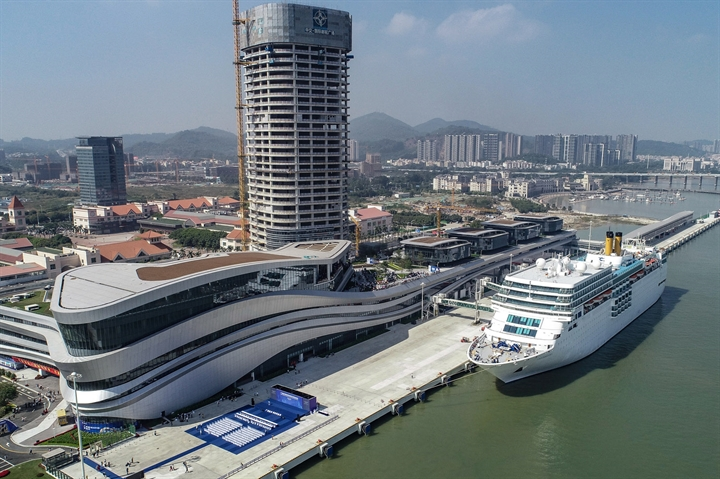 Nansha cruise ship port unveils mega berth