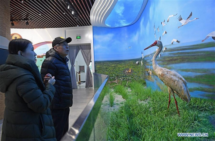 Publicity and education center themed on protection of wetland opens to public in Jiangxi